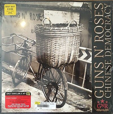GUNS n ROSES ~ CHINESE DEMOCRACY ~ 2 x VINYL LP ~ MP3 ~ SLEEVE IMPERFECT ~ NEW