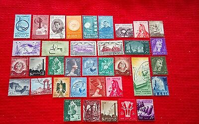 1959  Egypt (UAR) stamps - 36 different - see notes