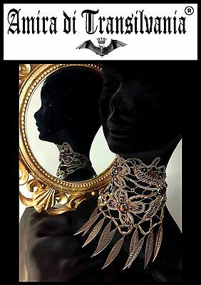 jewels accessories collar macramè couture made in Italy fashion bijoux hand made