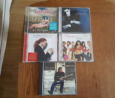 Assorted 5 Music CD Albums