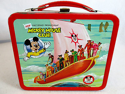 Vintage 1970s Disney's Mickey Mouse Club metal lunch box by Aladdin