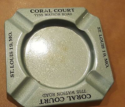 1950s Vtg Coral Courts St Louis Route 66 Motel Greenlease Kidnapping Ashtray