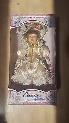 Limited edition of fine porcelain doll Christina Collection