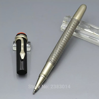 Luxury MB Rollerball Pen Silver Heritage Collection1912 Rouge et Noir