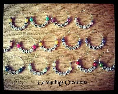 Personalised Wine Glass Charms Favour Weddings Hen Party Favours Gift Thank You!