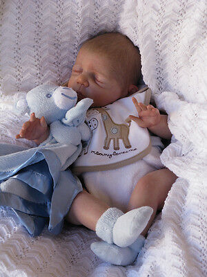 """Limited Stock! Full Kit to Reborn 22"""" asleep Baby Kyle by Pat Moulton"""