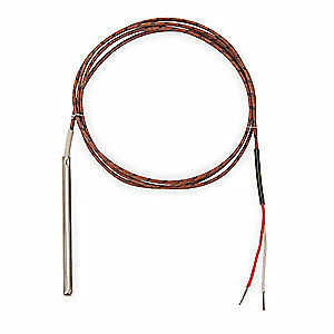 TEMPCO 304 Stainless Steel Thermocouple Probe,Type J,Length 3 ft., TTW00178