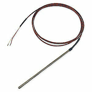 TEMPCO 304 Stainless Steel Thermocouple Probe,Type J,Length 6 In, TTW00065