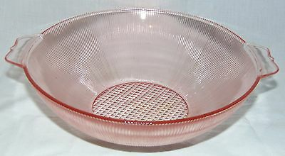 "Jeannette HOMESPUN PINK *8 1/4"" LARGE BERRY BOWL*"