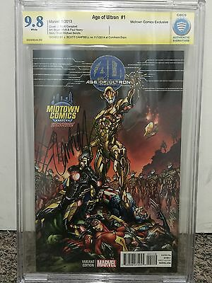 Age Of Ultron #1 Midtown Comics, J Scott Campbell Variant, Signed & Graded 9.8