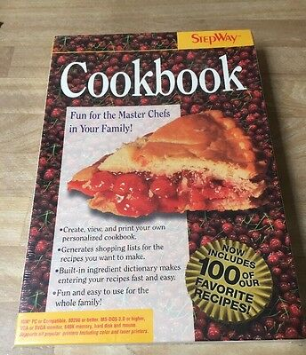 "Vintage New In Box Cookbook By Stepway IBM/Tandy Computer Game 3 1/2"" Disk"