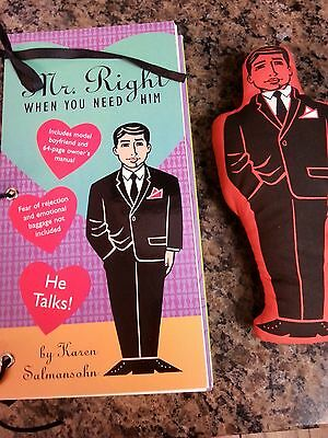 """""""Mr. Right When You Need Him"""" Doll + 64 Page Owner's Book Karen Salmansohn"""