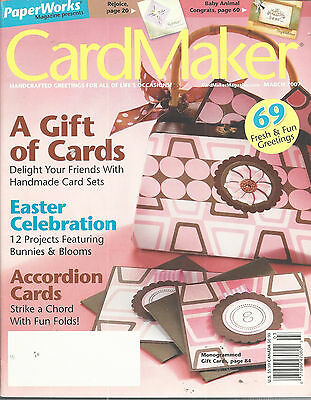CardMaker Magazine March 2007 Scrapbookng Card Making Rubber Stamping