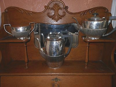 Antique English silverplate tea and coffee set
