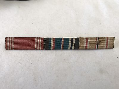 WW2 Enlisted U.S. Theater Made Ribbon Bar. Good Conduct, ETO & Pacific