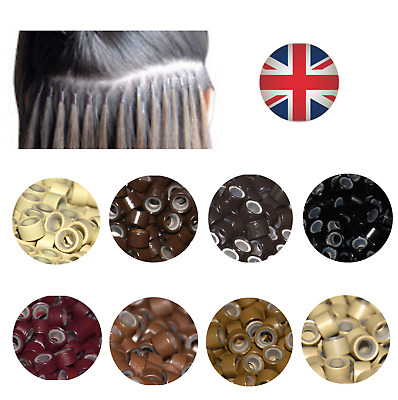 Silicone Lined Micro Rings Beads Human Hair Extensions High Quality 100/500/1000