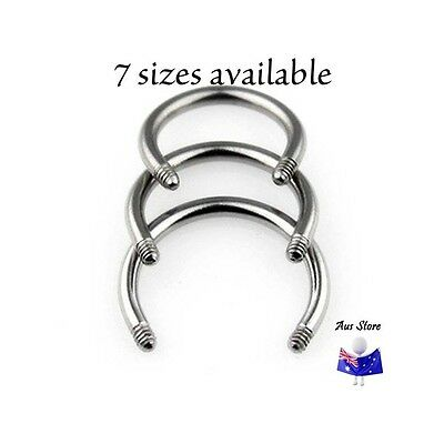 1pc NEW AUS Replacement Horseshoe Bar 16G 14G 12G 10G. Body Jewellery Parts