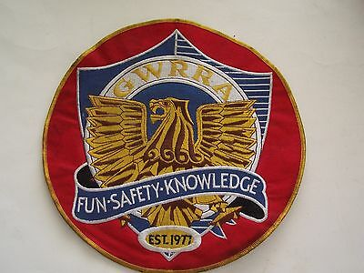 """9 3/4"""" Gold Wing Road Riders Association Patch- Fair Condition"""
