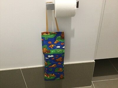 Hanging Three Toilet Roll Holder/ Toilet Paper Holder/ Bathroom -FROGS