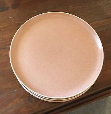 Russel Wright Steubenville Coral Dinner Plates (lot of 8)