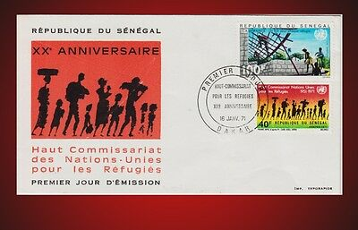 1971 HIGH COMMISSIONER FOR REFUGEES 20Th. ANNIVERSARY FDC SCOTT - 337,C94