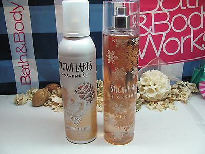 Bath and Body Works ~ Snowflakes & Cashmere ~ Mist & Whipped Shimmer Body Mousse