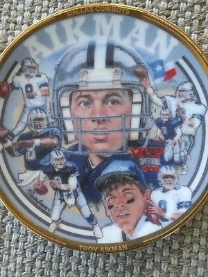 """1993 Troy Aikman 4"""" Mini Collectible Plate"""
