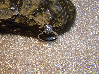 *Hearts and Arrows 2 Carat NSCD Diamond Engagement .925 Silver Ring Size US8