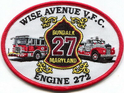 Maryland - Dundalk, Baltimore County Wise Avenue VFC Engine 272 patch