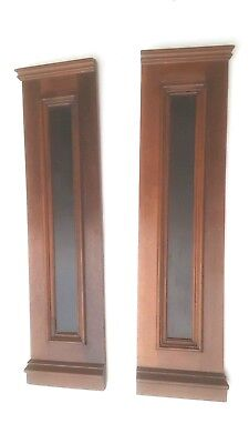 Two Antique Panels Columns Fireplace Mantels Mantles Accent Pieces