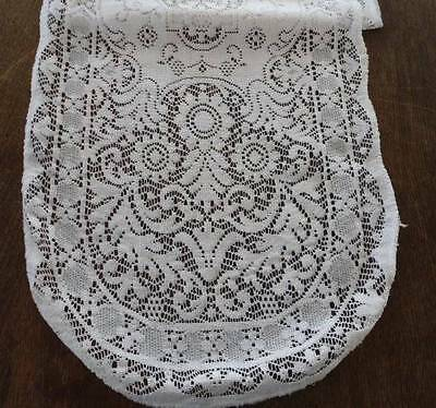X Long Vintage Quaker Style Lace Table Runner Flower Baskets Ecru 71""