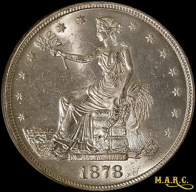 1878-S MS63 PCGS 1$ Trade Dollar, Bright and Lustrous Beauty! Free Shipping MARC
