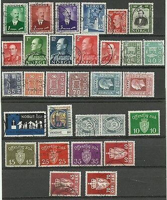 Norway used lot/collection 1946-77 Officials