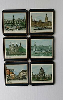 Set of 6 Pimpernel Coasters London Scenes Made In England