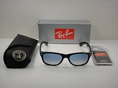 622c87d4c3 Ray-Ban New Wayfarer Sunglasses Rb2132 622 30 Black silver Mirror Lens 55Mm