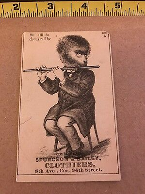 1800'S VICTORIAN TRADE CARD Spurgeon & Bailey Clothiers