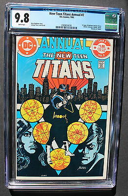 NEW TEEN TITANS ANNUAL #2 1st VIGILANTE & HARBINGER 1983 TV Arrow PEREZ CGC 9.8