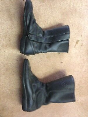 Falco leather motorcycle boots - 9 1/2