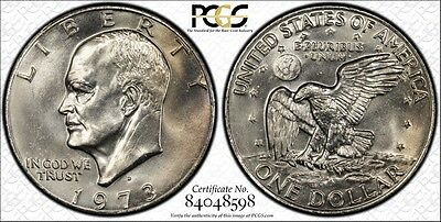 1973-D PCGS MS64 Eisenhower Dollar $1 Secure Label +True View Ships Free