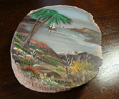 Painting by A.O. Henry FDC cover Artist Tropical Waterfront