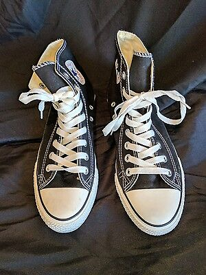 Converse Black High Tops Size 9 Women's 7 Men's