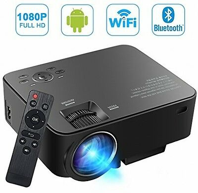 [Build-in Android OS] SEGURO Smart Android Projector 1080P Wifi Home Cinema HD