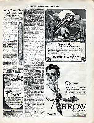 1912 Smith & Wesson Revolver Ad --Security With S & W Pistol ---z1304
