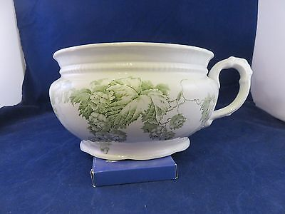 Chamber Pot, White w Green Design by Alfred Meakin Kent England (989)