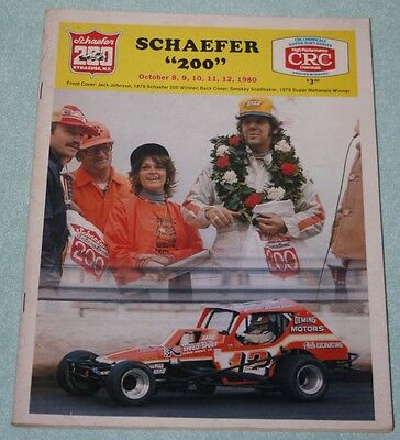 1980 Super Dirt Week Schaefer 200 New York State Fairground Syracuse program