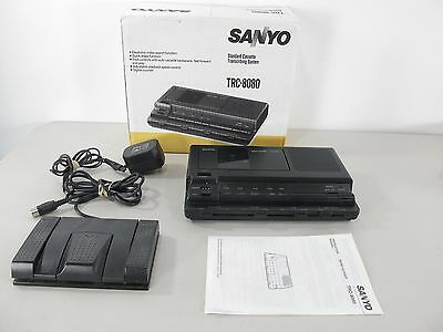 Sanyo TRC-8080 Transcriber Memo-scriber with AC Adapter and Foot Pedal