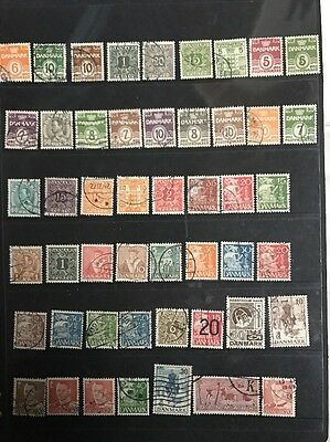 stamps  Denmark - Used  - Lot 79