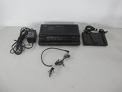 Sanyo TRC-8080 Transcriber Memo-scriber with Foot Pedal and AC Adapter