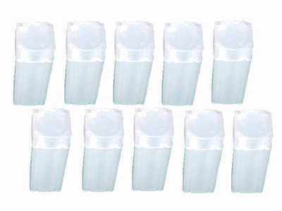 Nickel Square Coin Tube Storage, Numis Brand, 21.2mm, 10 pack