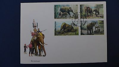 Thailand - 1991 Elephant Postage Stamps.  First Day Cover.